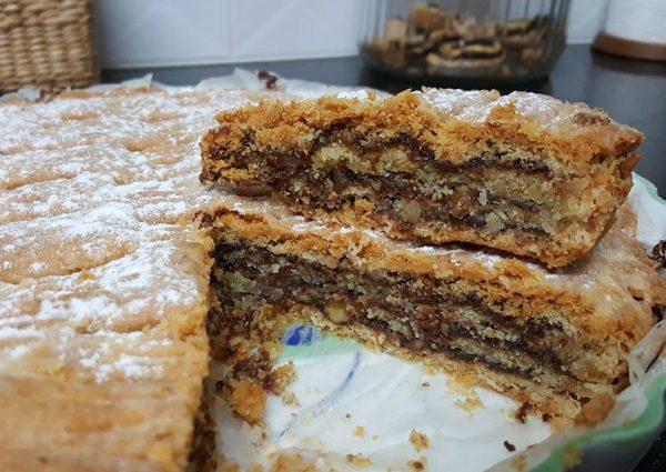 """עוגת שכבות בצק פריך בנוטלה / עוגת השבת שלי_ מתכון של אופירה פחימה יחיא__ע""""י נירה חופי"""