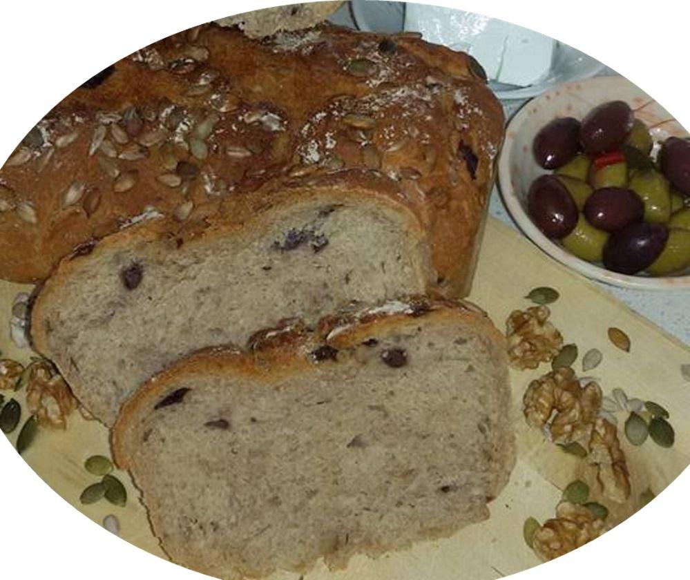 לחם מקמח מלא וכוסמין מלא