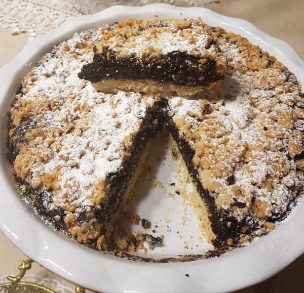 עוגת שוקולד גבינה פירורים ללא מיקסר_נורית יונה