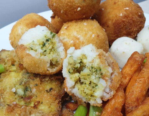 כדורי תפוחי אדמה במילוי דג סול