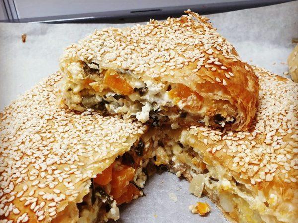 בצק פילאס מוכן במילוי גבינות תפוחי אדמה ופטריות