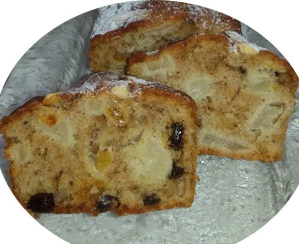 עוגת תפוחים קינמון עם אגוזים וצימוקים