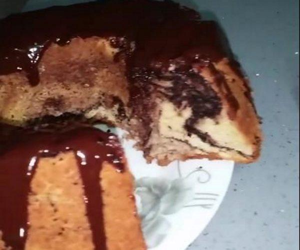 עוגת שיש רכה ומטריפה