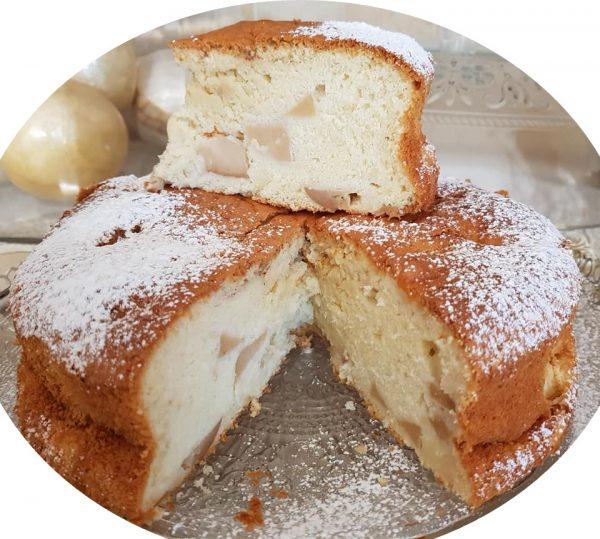 עוגת טורט תפוחים במרקם של עוגת גבינה_נורית יונה