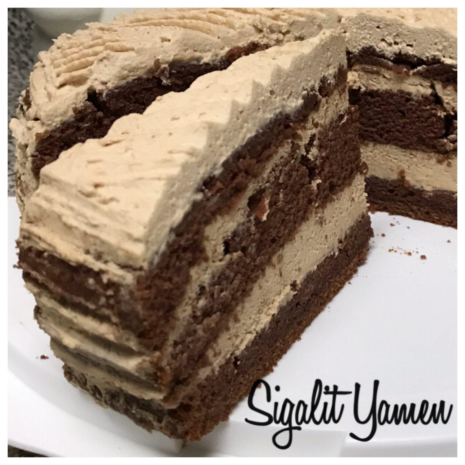 עוגת שוקולד קרם מסקרפונה  נס קפה