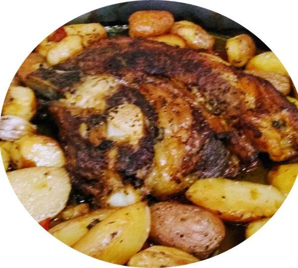 אסאדו ובייבי תפוחי אדמה בתנור