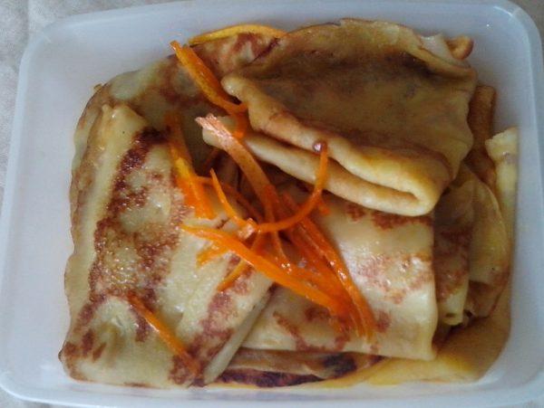 בלינצ'ס בסיסי עדין בטעם תפוזים