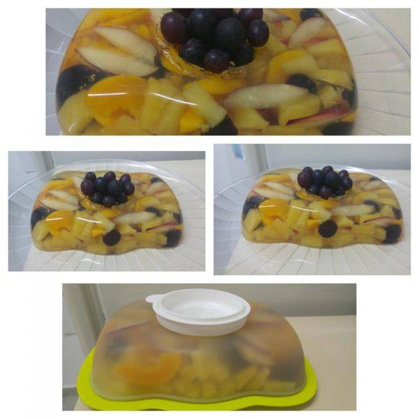 ג'לטין עם פירות בטעם משמש