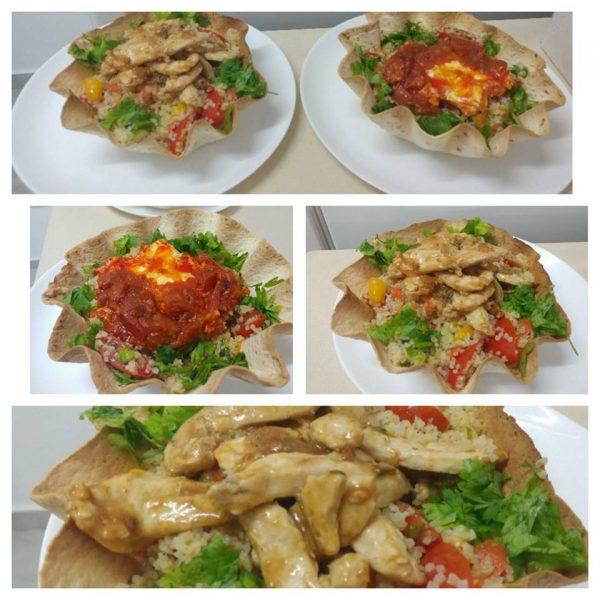 טורטיה בתנור מלאה בבריאות