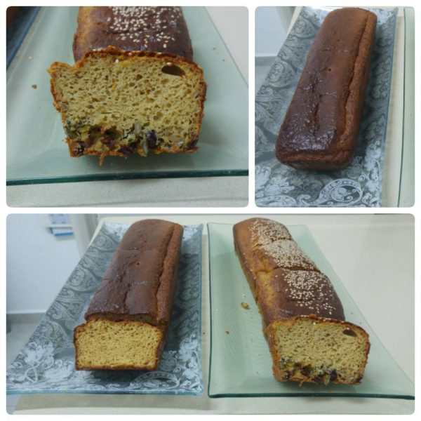 לחם טחינה משולב עם חמוציות, גרעיני חמניה וגרעיני דלעת