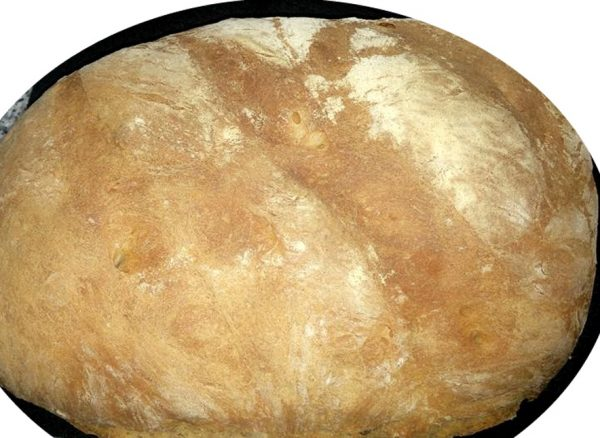 לחם כפרי משגע רך בפנים וקשה בחוץ