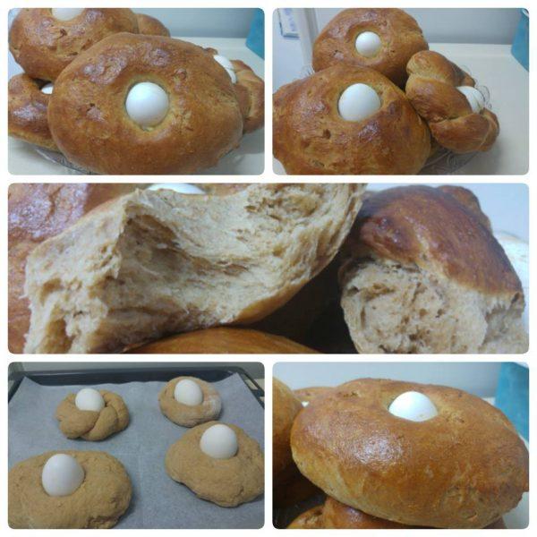 לחם עם ביצה – לחם פורים