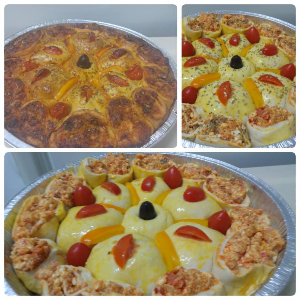 מאפה ממולא ברוטב פיצה