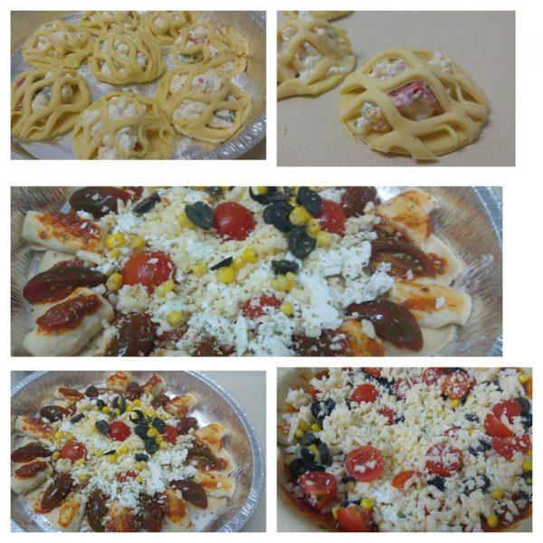 מאפים ופיצה ממולאים בגבינות וירקות