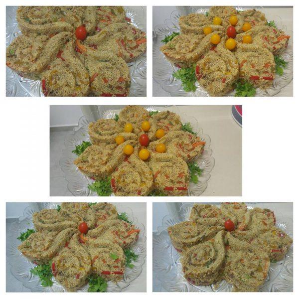 סלט בורגול עם ירקות מוקפצים