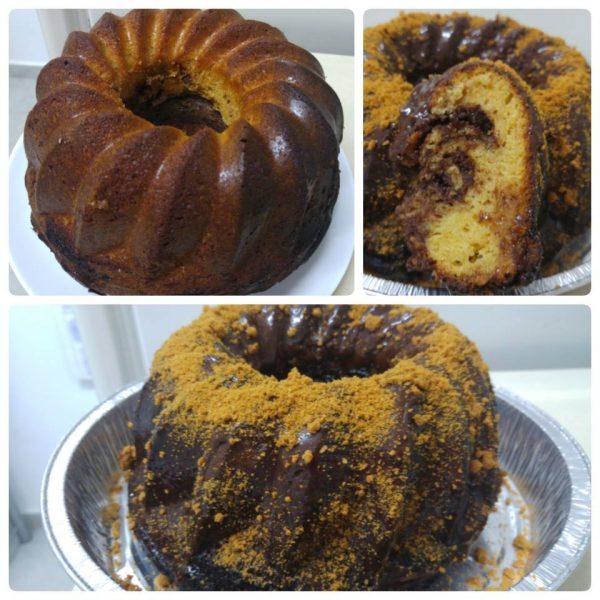 עוגה בחושה בטעם וניל שוקולד