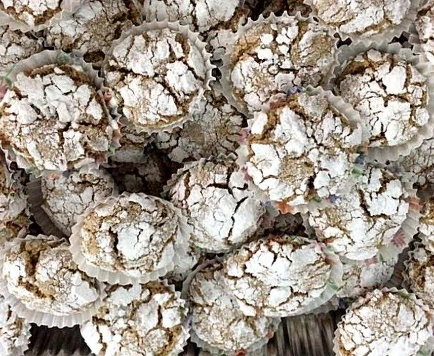 עוגיות בוטנים מושלגות