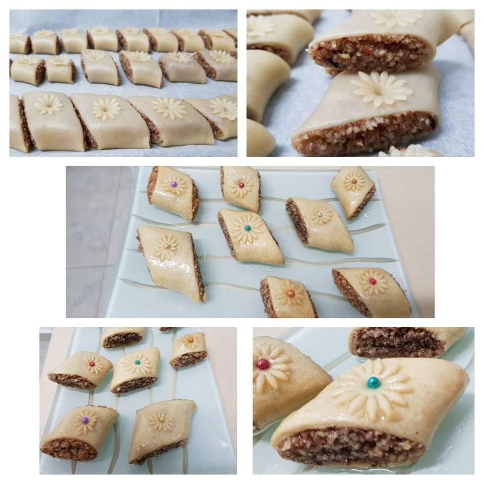 עוגיות בוטנים מצופות בבצק דק