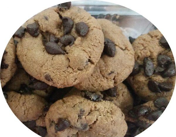עוגיות טחינה עם שוקולד ציפס