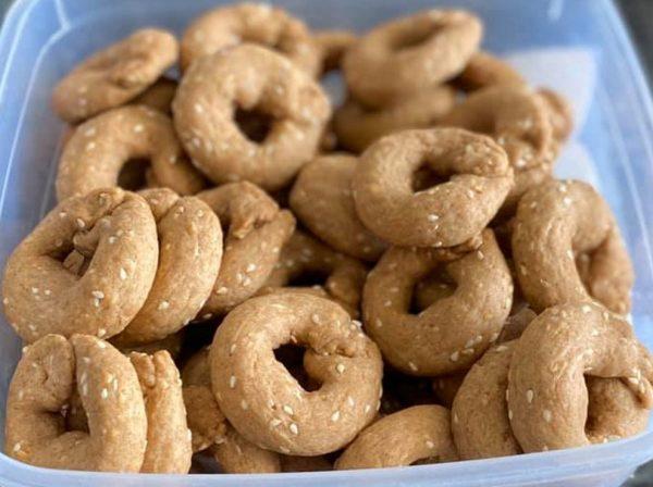 עוגיות מלוחות מקמח כוסמין מלא