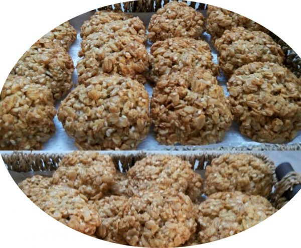 עוגיות שיבולת שועל קווקאר