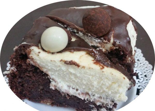 עוגת אגוזים ושוקולד