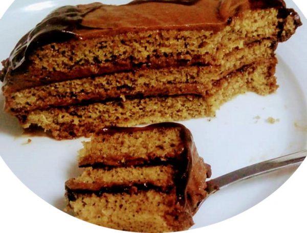 עוגת אספרסו וקרם נוגט קפה