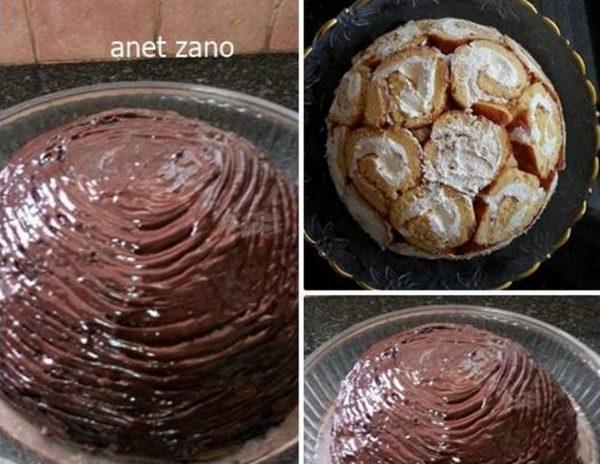 עוגת בומב עם שוקולד