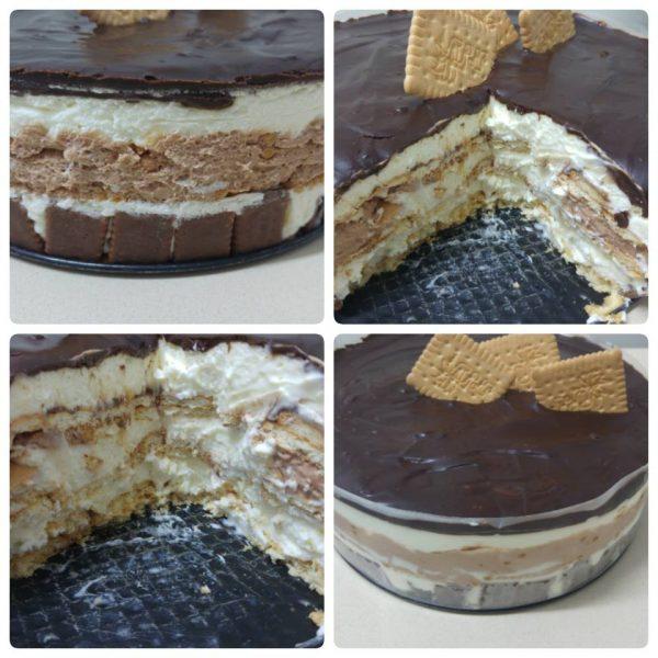 עוגת ביסקוויטים עגולה