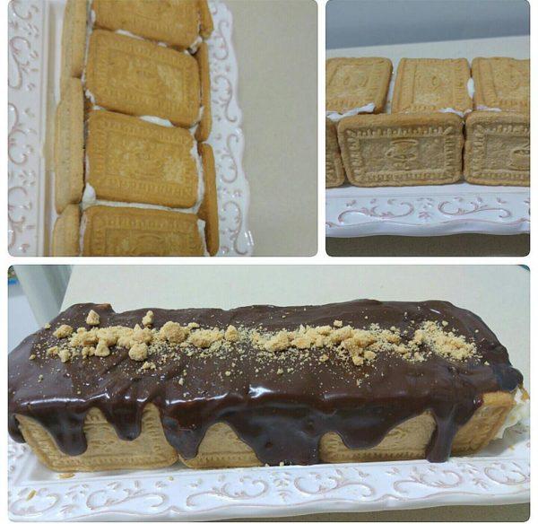 עוגת ביסקוויטים קרה וקלה