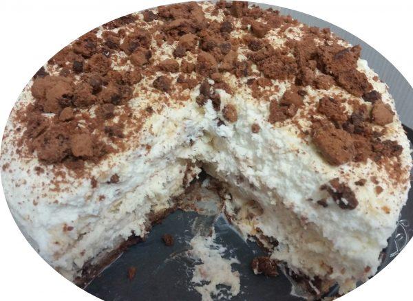 עוגת בלונדי, גבינה ועוגיות שוקלד ציפס