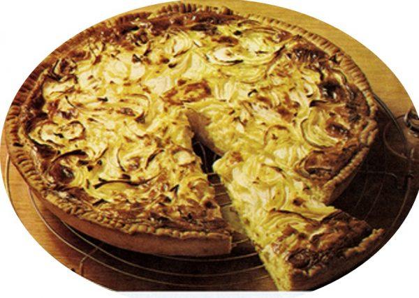 עוגת בצל מבצק שמרים