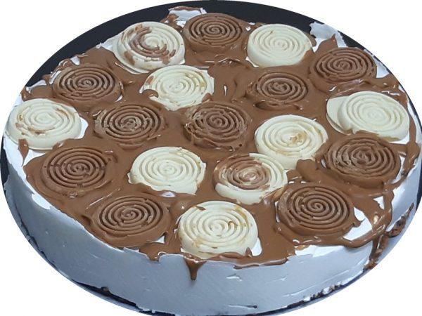 עוגת גבינה ושוקולד לבן ,ללא תחתית