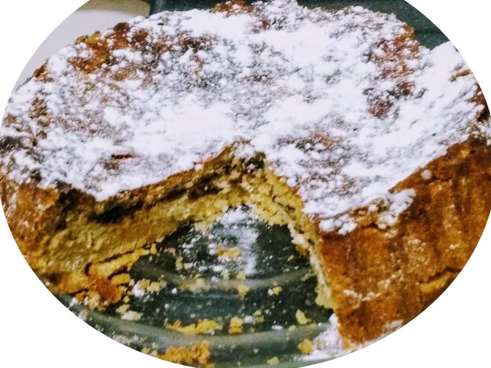 עוגת גבינה ושוקולד עטוף במאפה חמאה