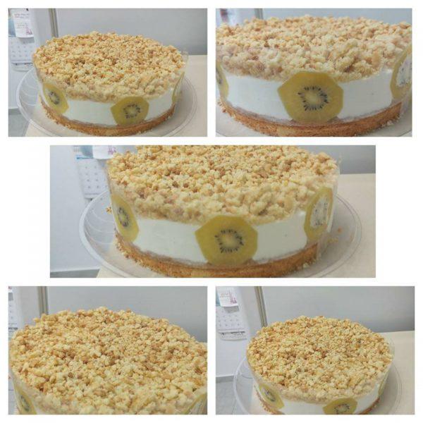 עוגת גבינה עם פירורים