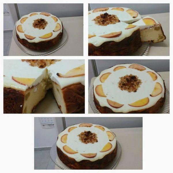 עוגת גבינה עם תפוחים