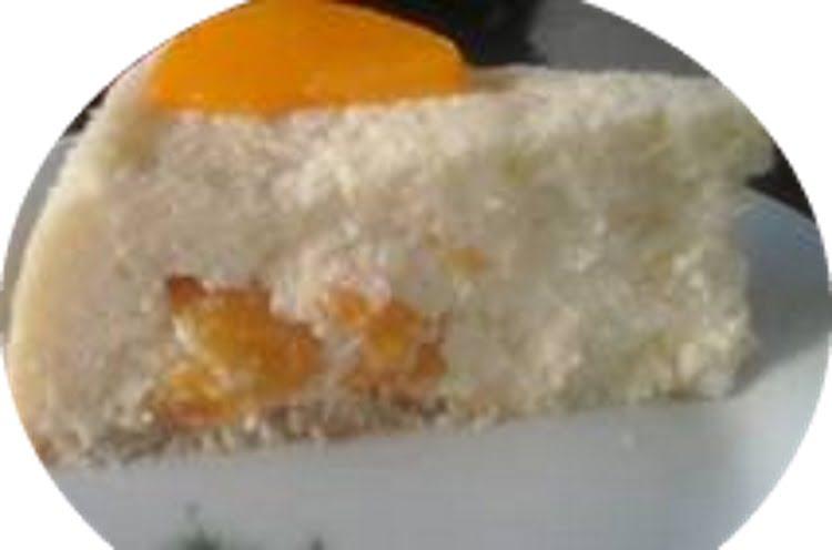 עוגת גבינת פילדלפיה ואפרסקים