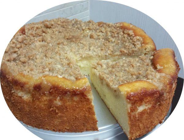 עוגת גבינה, קוקוס ופירורים בניחוח מייפל בחושה