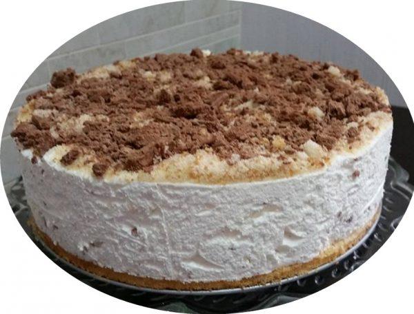 עוגת גבינה קרה מקופלת