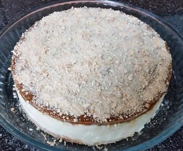 עוגת גבינה קרה עם ממרח לוטוס ב-5 דקות …הכי טעימה שיש