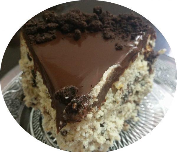 עוגת גבינה, שקדים, אוראו בציפוי גאנש נוטלה