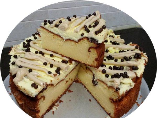 עוגת גבינה תפוז וחלווה