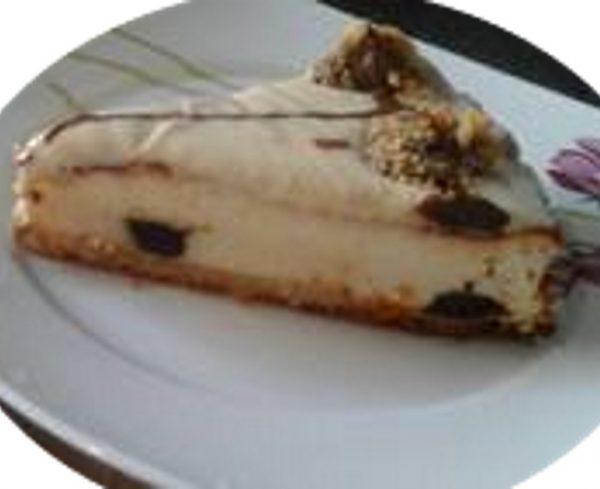 עוגת גבינת שמנת גאנש שוקולד לבן ושוקולד מריר