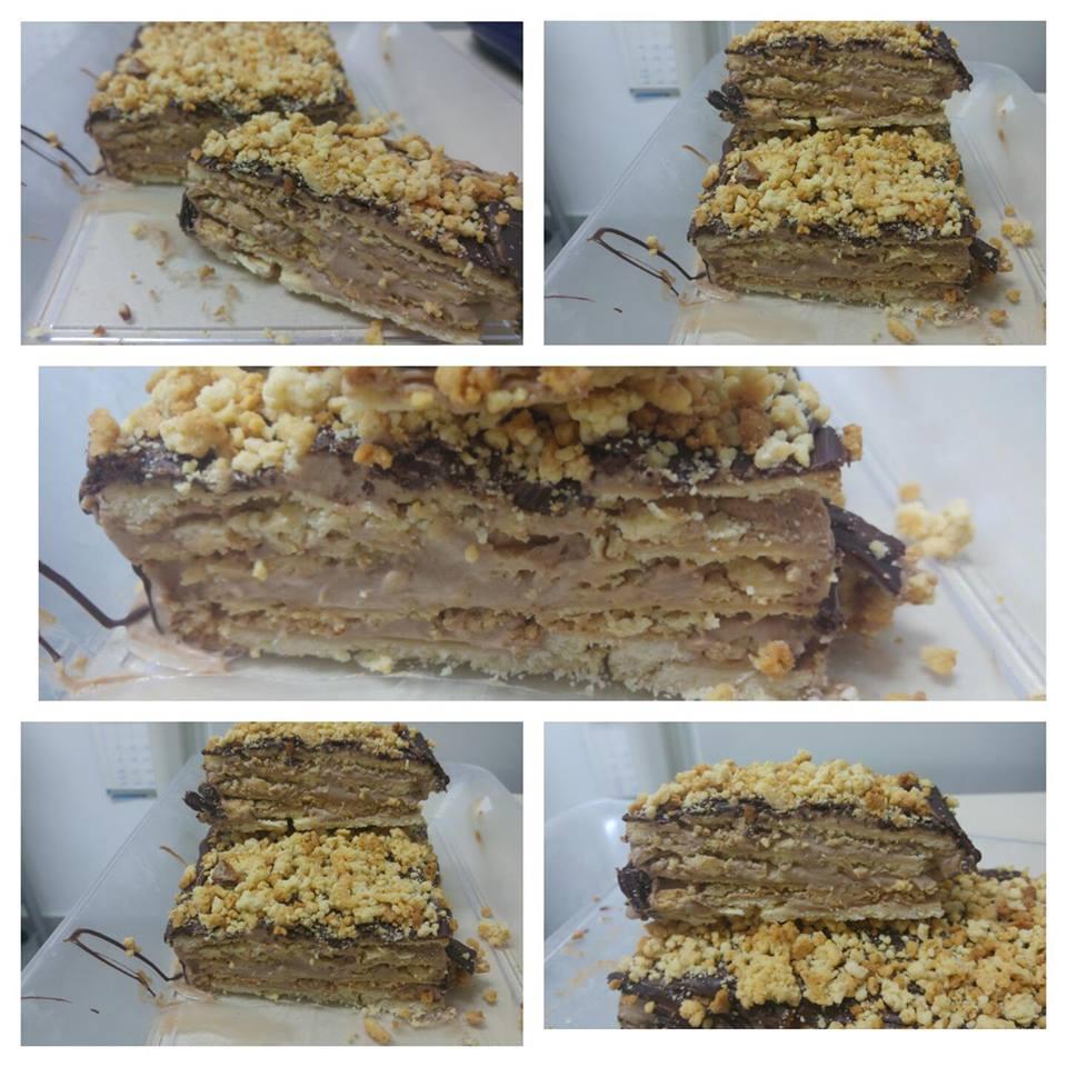 עוגת ג'רבו ממולאת בשכבות מוס