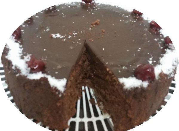 עוגת דובדובנים, שוקולד וקוקוס