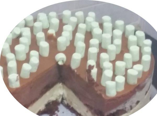 עוגת דוקולד, מוס פיסטוק, מוס שוקולד על בסיס עוגת שוקולד
