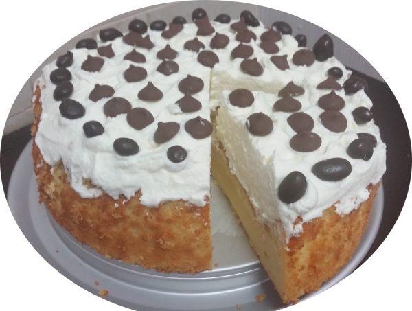 עוגת לימון, שמנת ושוקולד לבן בחושה