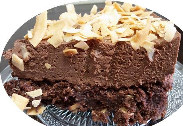 עוגת מוס ערמונים ושוקולד