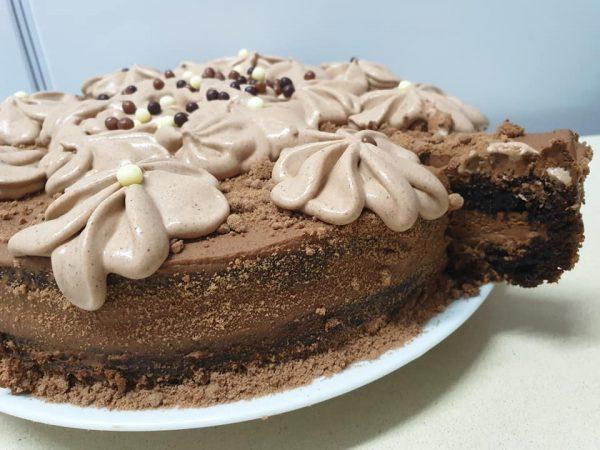 עוגת מוס קפה ושוקולד מטורפת