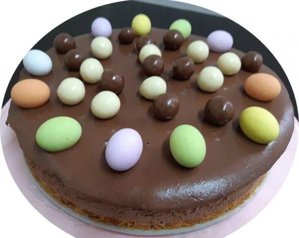 עוגת מוס שוקולד וחלבה ללא גלוטן